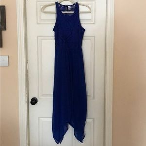 H&M size 6 blue midi dress